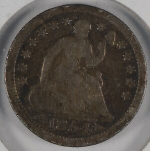 1854 10C SEATED LIBERTY HALF DIME GOOD CONDITION 176540