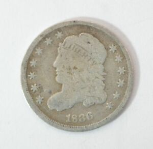 1836 CAPPED BUST HALF DIME  G63