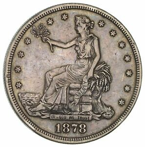 1878 S TRADE SILVER DOLLAR  CIRCULATED  2900