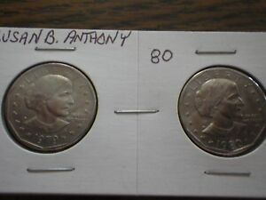 1979 AND 1980 SUSAN B ANTHONY