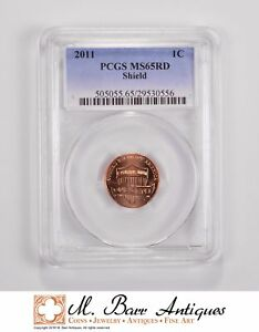 MS65RD 2011 LINCOLN SHIELD CENT   GRADED PCGS  5526