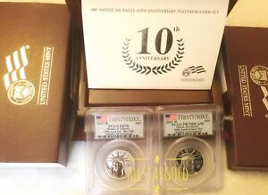 Click now to see the BUY IT NOW Price! 2007 W $50 10TH ANNIVERSARY PLATINUM 2COIN SET PCGS PR70 PF70 PROOF &REVERSE FS