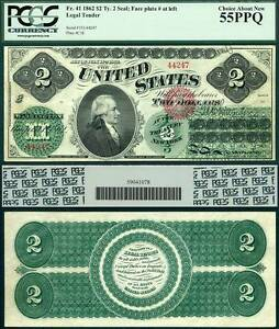 Click now to see the BUY IT NOW Price! 1862 $2 UNITED STATES NOTE LEGAL TENDER FR 41 PCGS AU55PPQ