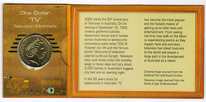 2006 DOLLAR RAM $1 UNC TV MINTMARK  50 YEARS OF AUSTRALIAN TELEVISION
