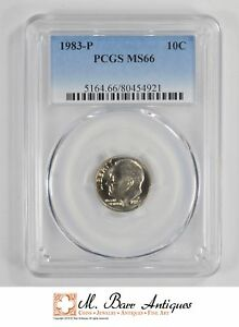MS66 1983 P ROOSEVELT DIME   GRADED PCGS  3931