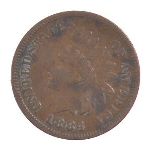1884 INDIAN HEAD ONE CENT  Z08