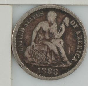 1888 LIBERTY SEATED DIME  Z95