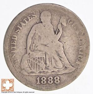 1888 SEATED LIBERTY SILVER DIME  3946