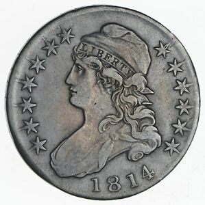 1814 CAPPED BUST HALF DOLLAR  CIRCULATED  2271