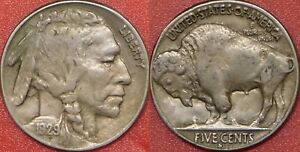 FINE 1929S US BUFFALO 5 CENTS