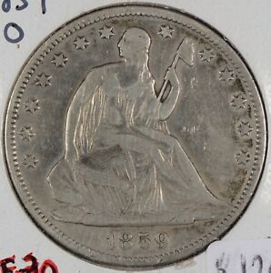 1859 O LIBERTY SEATED HALF DOLLAR FINE CONDITION 145955
