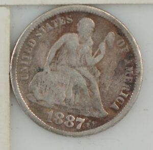 1887 LIBERTY SEATED DIME  Z11