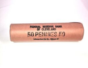 1963 D  ORIGINAL BANK WRAPPED ROLL  UNCIRCULATED