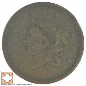 1836 MATRON HEAD LARGE CENT  XB89