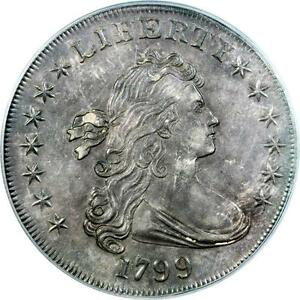 1799 DRAPED BUST DOLLAR PCGS UNC DETAILS  SPECTACULAR COIN   MS DETAILS