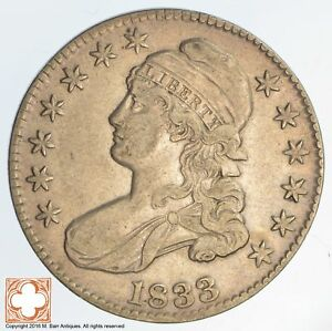 1833 CAPPED BUSTED HALF DOLLAR  447