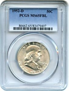 1952 D 50C PCGS MS65 FBL   FRANKLIN HALF DOLLAR