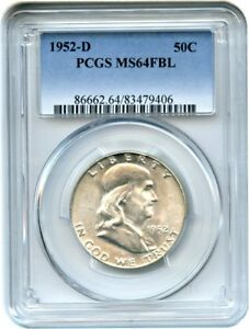 1952 D 50C PCGS MS64 FBL   FRANKLIN HALF DOLLAR