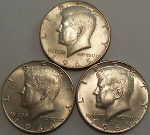 Click now to see the BUY IT NOW Price! KENNEDY HALF DOLLARS 40  SILVER 1965 1966 1969 D