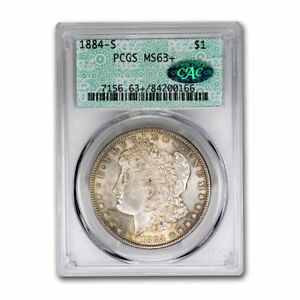 Click now to see the BUY IT NOW Price! 1884 S MORGAN DOLLAR MS 63  PCGS CAC   SKU158254