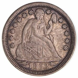 1853 SEATED LIBERTY SILVER DIME AR  2760