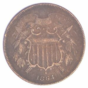 1864 TWO CENT PIECE  XB25