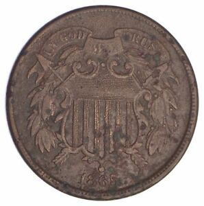 1865 TWO CENT PIECE  YB53