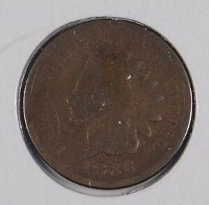 1886 1C VARIETY 2 BN INDIAN CENT GOOD CONDITION 162574