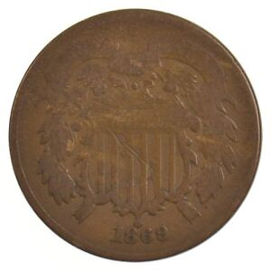 1869 TWO CENT PIECE  J97