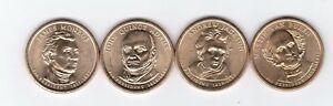 PRESIDENTIAL 4 DOLLAR COINS SET 2 2008 MINT P  4 NICE COINS.