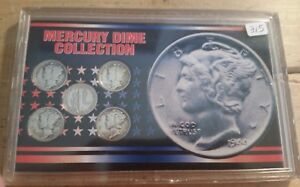 LOT OF 5 MERCURY DIME COLLECTION