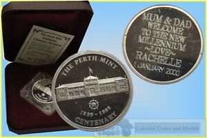 Click now to see the BUY IT NOW Price! 1999 PERTH MINT CENTENARY EXHIBITION 1OZ SILVER MEDALLION