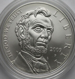2009 ABRAHAM LINCOLN COMMEMORATIVE UNCIRCULATED SILVER DOLLAR