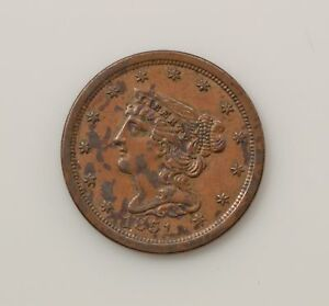 1851 BRAIDED HAIR HALF CENT  Q06