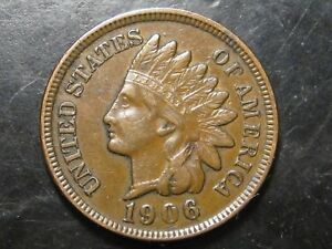 1906 INDIAN HEAD PENNY    MANY DETAILS   12 PHOTOS       D
