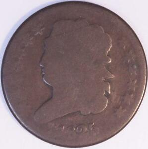 1825 HALF CENT BEAUTIFUL LIGHTLY CIRCULATED COIN NATURAL BROWN PROBLEM FREE