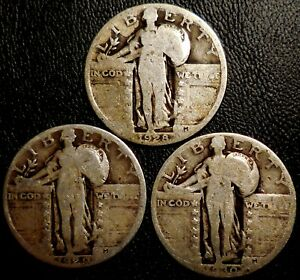 Click now to see the BUY IT NOW Price! STANDING LIBERTY QUARTERS THREE 90  SILVER 1928 1929 1930