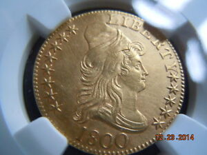 1800 DRAPED BUST 5.00 GOLD HALF EAGLE NGC UNC DETAILS 214 YRS OLD MINT LUSTER