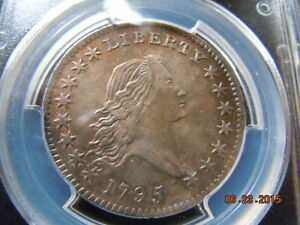 1795 FLOWING HAIR HALF DOLLAR PCGS GRADED AU O 131 HIGH R 4 BEAUTIFUL COIN