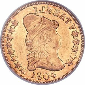 Click now to see the BUY IT NOW Price! 1804 DRAPED BUST 10.00 GOLD EAGLE NGC AU58 DETAILS  LOW MINTAGE