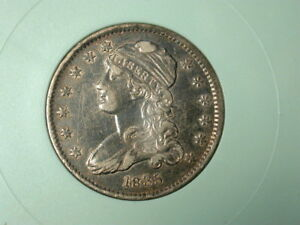 NICE CAPPED BUST QUARTER    CRUSTY TONED XF    GLOSSY LUSTER