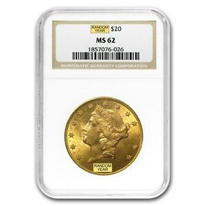 SPECIAL PRICE  $20 LIBERTY GOLD DOUBLE EAGLE MS 62 NGC  RANDOM    SKU 152011