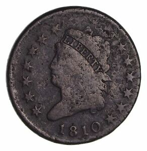 1810 CLASSIC HEAD LARGE CENT   CIRCULATED  1699