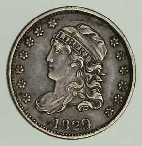1829 CAPPED BUST HALF DIME   CIRCULATED  9654
