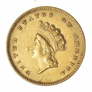 1854 INDIAN PRINCESS HEAD GOLD DOLLAR   CIRCULATED  9129