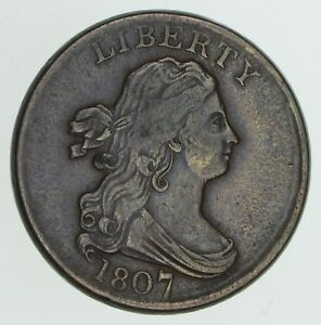 1807 DRAPED BUST HALF CENT   CIRCULATED  4005