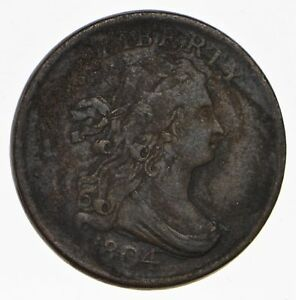 1804 DRAPED BUST HALF CENT   CIRCULATED  1019