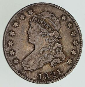 1821 CAPPED BUST QUARTER   CIRCULATED  4869