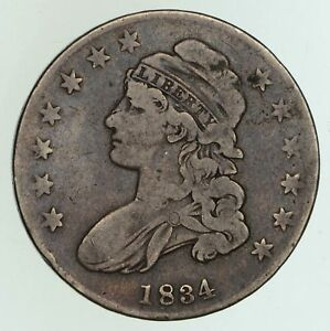 1834 CAPPED BUST HALF DOLLAR   CIRCULATED  5077