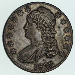 1833 CAPPED BUST HALF DOLLAR   CIRCULATED  3572
